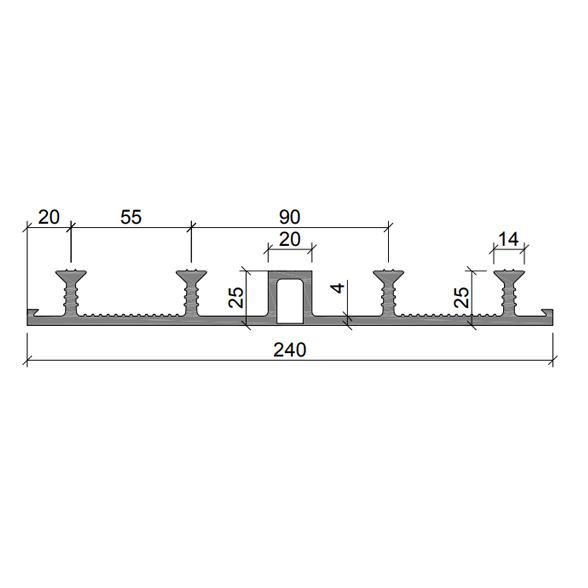 Гидрошпонка-ДО-24020-425-ПВХ