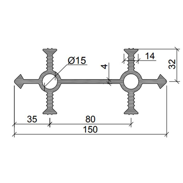 Гидрошпонка-УВ-150-430-(ПВХ)