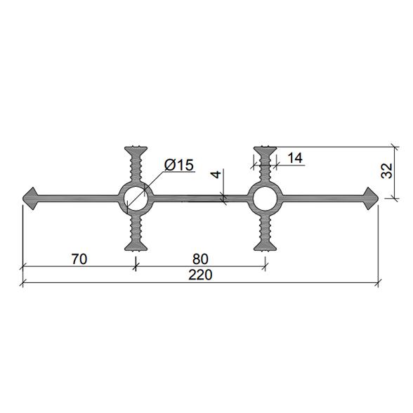 Гидрошпонка-УВ-220-430–(ПВХ)
